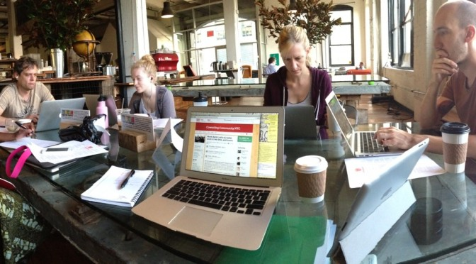 Work Sprint at Brooklyn Roasting Company